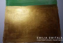 Gold Paintings / www.etsy.com/shop/EmiliaSwitalaArtist contact@emiliaswitala.com, www.emiliawitala.com #art #artist #Painter #Contemporaryart #Contemporarypaintings #Contemporaryartist #Abstractart #Abstractpaintings #Largeartprints #Artprints #Artforinterior #Artforinteriors #artwork #Bilder #pinturas #painting #paintings #minimalart #minimalism #abstractexpressionism #colorfield #colorfulart #modernart #watercolor #acrylic #gold #goldart #goldpainting #goldpaintings