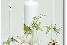 Unity Candles / beautiful personalized wedding unity candles