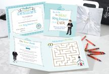 Entertaining the little ones on your Wedding Day / This little board is about keeping the little ones entertained and having fun during the rehearsals and ceremony.