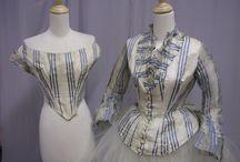 Women, Dresses, 1860