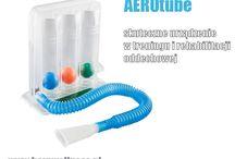 Drenaż płuc / Urządzenia do rehabilitacji oddechowej. Stosowane przy  - dysfunkcjach układu oddechowego - dusznościach - profilaktyce zapalenia płuc i niedodmy - pomaga w odkrztuszaniu wydzieliny płucnej - zwiększa wydajność układu oddechowego