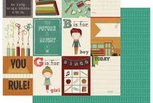 Real Genius by Traci Smith / scrapbook paper and stickers