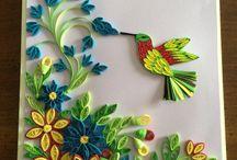 bird and flower frame