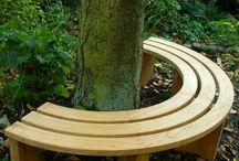 wokół pnia / Ciekawe pomysły na zagospodarowanie miejsca wokół pnia dużego drzewa  ogrodzie:)