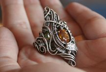 My Jewelry / Fantasy inspired, freeform, wire wrapped jewelry