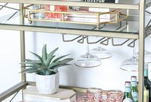 Bar Cart Styling / Ideas and inspiration for styling a bar cart