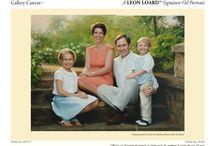 Family Oil Portraits / Family Oil Portraits hand painted by Leon Loard Oil Portraits