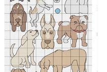 Cross stitch - dogs different