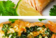 Salmon garlic