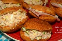 Recetas de sandwiches y bocadillos / Recetas de cocina fácil para llevar. Recetas de sandwiches y bocadillos variados.