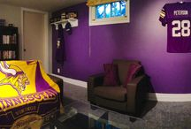 Minnesota Vikings Football / The affordable Ultra Mount Jersey display hanger helps create a great Vikings Man Cave!