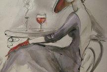 Donne in pittura / female in paintings femme fatale 30s'