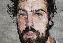 Portrait, needlework
