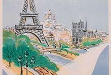Travel vintage posters France
