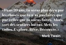 CITATIONS INSPIRANTES / Citations inspirantes en français. A retrouver sur ma page de voyages → https://www.facebook.com/bienvoyager.blog/  #citation #voyage #inspiration