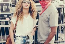 Queen B  and jay z