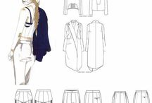Technical drawings fashion
