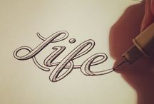 Lettering / Lettering, typography, hand drawn typefaces