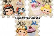 Strijkapplicaties full color / Strijkapplicaties geschikt voor het opvrolijken van textiel, verkrijgbaar via www.jipps.nl