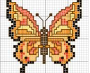 borboletas ponto cruz
