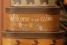 Inside the cabin.... / by Peggy Samolczyk