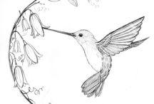 Тату с изображением колибри