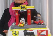 torta Distributore di benzina -Ferrari / torta Distributore di benzina -Ferrari