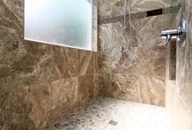 Large Shower & Bathroom Makeovers / People are expanding their smaller bathrooms into adjacent areas in their bedrooms and closets to make a much larger bathroom. Here are some examples of some large bathrooms in the Austin, TX area.