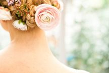 Hair flower decorations