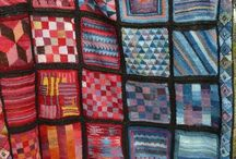Pletený a háčkovaný patchwork