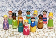 Peg People / Peg princess,superhero and other characters  / by CJ Casey