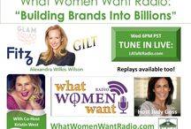 What Women Want Talk Radio / Kristin West co-hosts What Women Want Talk Radio with famed lifestyle journalist Judy Goss weekly at 6 PM PT on LA Talk Radio.  West has interviewed Emmy winners, Grammy winners, TODAY Show personalities and other top household names in self-help, spirituality and publishing.