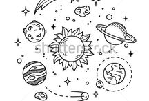solar system doodle