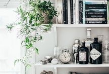 Bookshelves and Wall Decoration