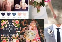 Wedding ♥ Blush, Gold and Navy