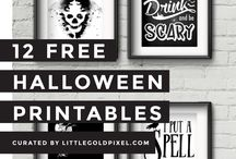 Halloween Printables / A collection of spooky - yet fun - free halloween printables.