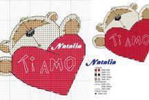 Punto croce Amore Cross stitch Love