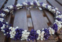 Coronas de flores MRE / Coronas de flores para novias e invitadas de bodas rústicas y en el campo. Hechos a mano por My Rustic Event (www.myrusticevent.com)