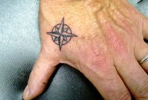 Compass, Clock, Map Tattoo Ideas