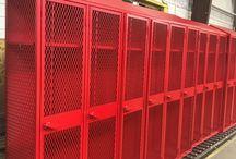 Aurora Public Schools - Aurora, NE #DeBourgh #Lockers / #AngleIron #SlopeTop #ClosedBase #RedHammer #SentryOneLatch #ExpandedMesh #5KnuckleHinge