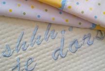 Handmade baby bed linen