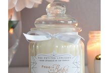 Bougies parfumées bonbonnières