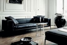 Interior Moods - 'Noir' / Black is my enduring love affair. I exist for her. She is evocative, immovable, silent and sultry; ugly and beautiful in equal measures. Like the perfect circle, she is impenetrable. She retains a feline, feminine presence, even in the most masculine context. She is power, subtle passion, and sheer will. She is magic. She is both ice and fire; the Yin of hard-baked earth and the Yang of incense smoke.