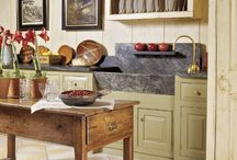Rustic Kitchens / Old world, european, tuscan, santa fe style etc.  Kitchens that look like they have been around for a while. / by Michelle 'Russell' Forst