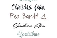 Fonts / by Catrina Spindler