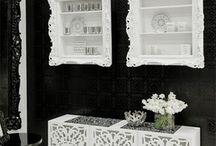 Cabinet and shelf