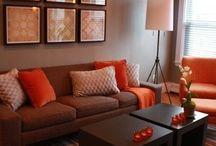 Orange & brown deco