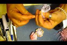 fabric ribbon, etc. diy flowers