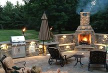 Patio/Fireplace / by Melinda Childress