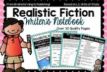 Writing- realistic fiction / Realistic fiction writing and reading lessons, anchor charts, ideas, freebies, activities, and games for 2nd, 3rd, and 4th common core.
